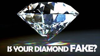 how to tell if a diamond is real or plastic