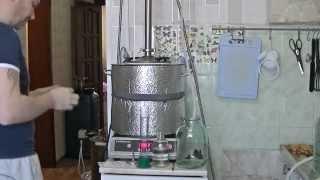 дистилляторе с колонной дефлегматором