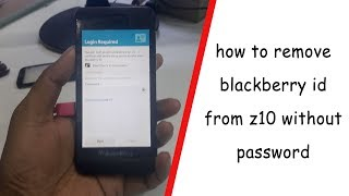 how to delete blackberry id without password