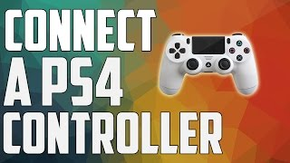 how to connect a ps4 controller to pc(wireless) (easiest